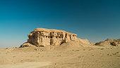 Butte at the dried shore of Razazza lake, Iraq