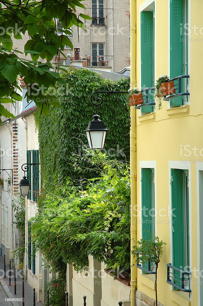 Butte aux Cailles royalty-free stock photo