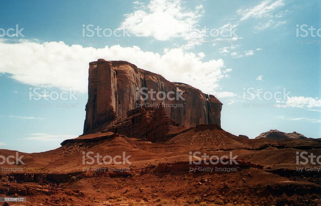 Butte in Monument Valley, Arizona-Utah stock photo