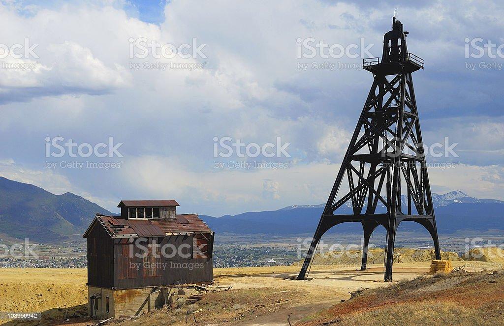 Butte Montana Gallows Frame stock photo