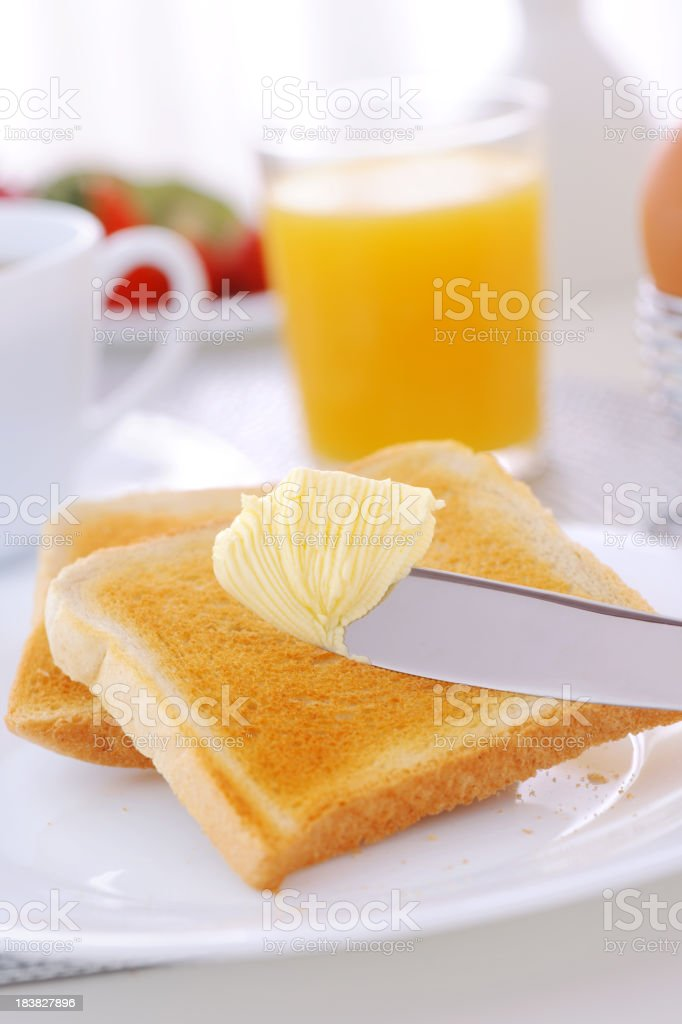 Butter and bread royalty-free stock photo