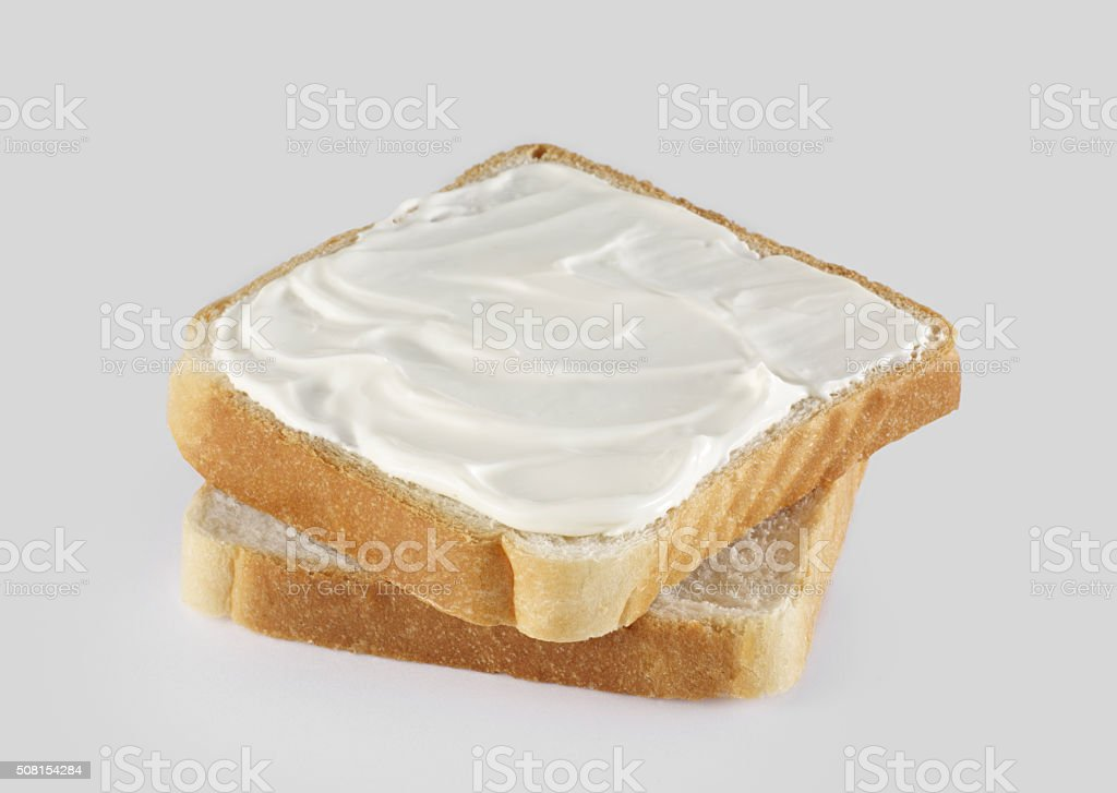 Butter and bread stock photo