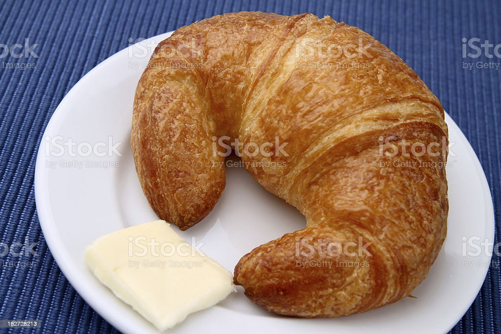 Butter and Croissant royalty-free stock photo