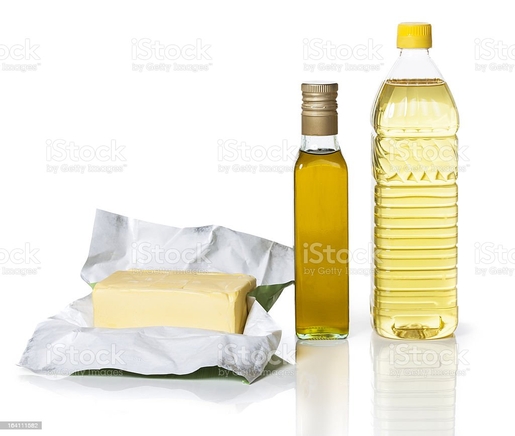 Butter and Oil royalty-free stock photo