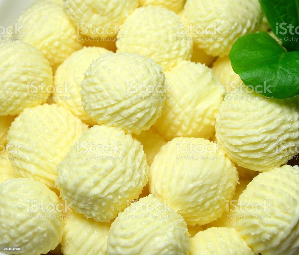 Butter Balls royalty-free stock photo