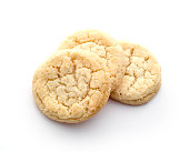 Butter biscuits cookies on white background