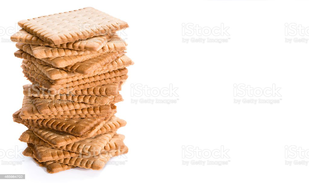 Butter Biscuits over white stock photo