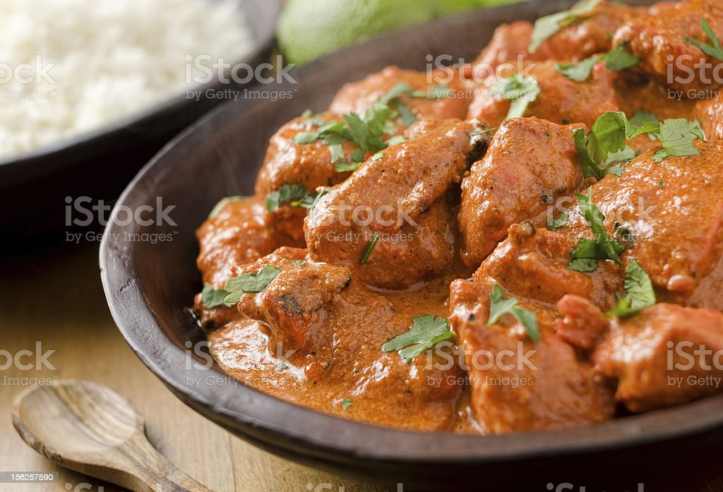 Butter chicken curry. stock photo