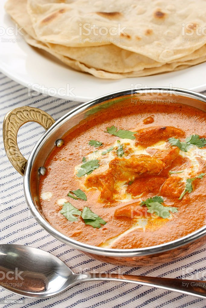 butter chicken , indian cuisine stock photo