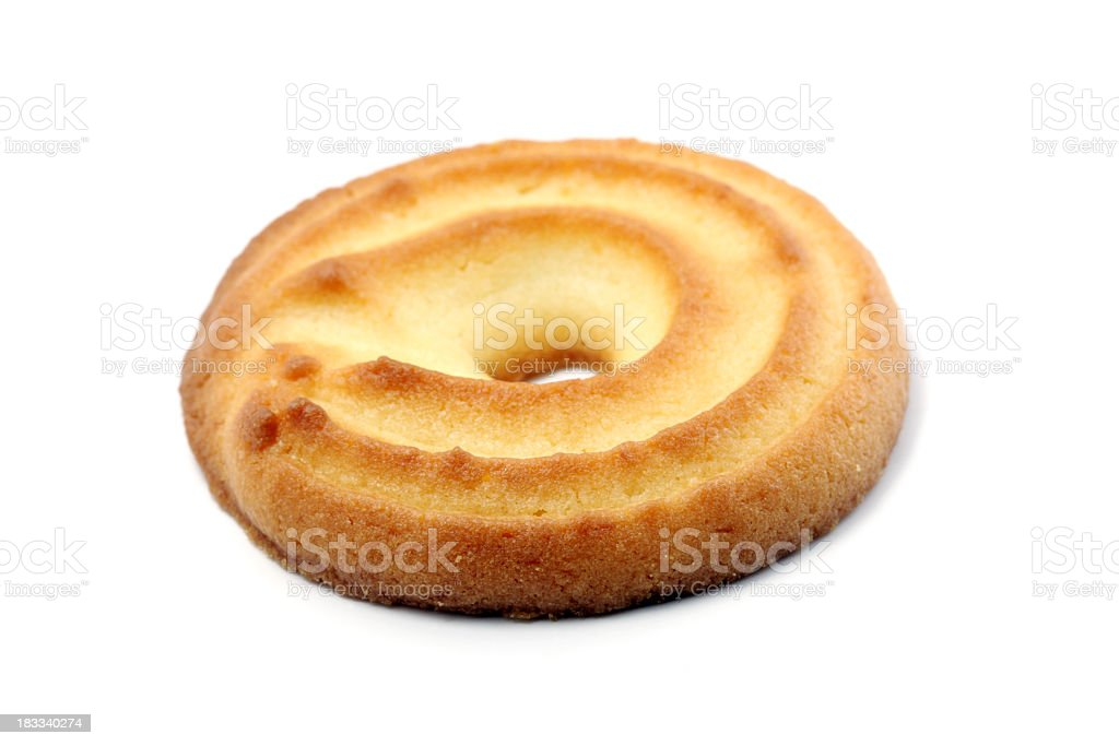 Butter cookie white Lizenzfreies stock-foto