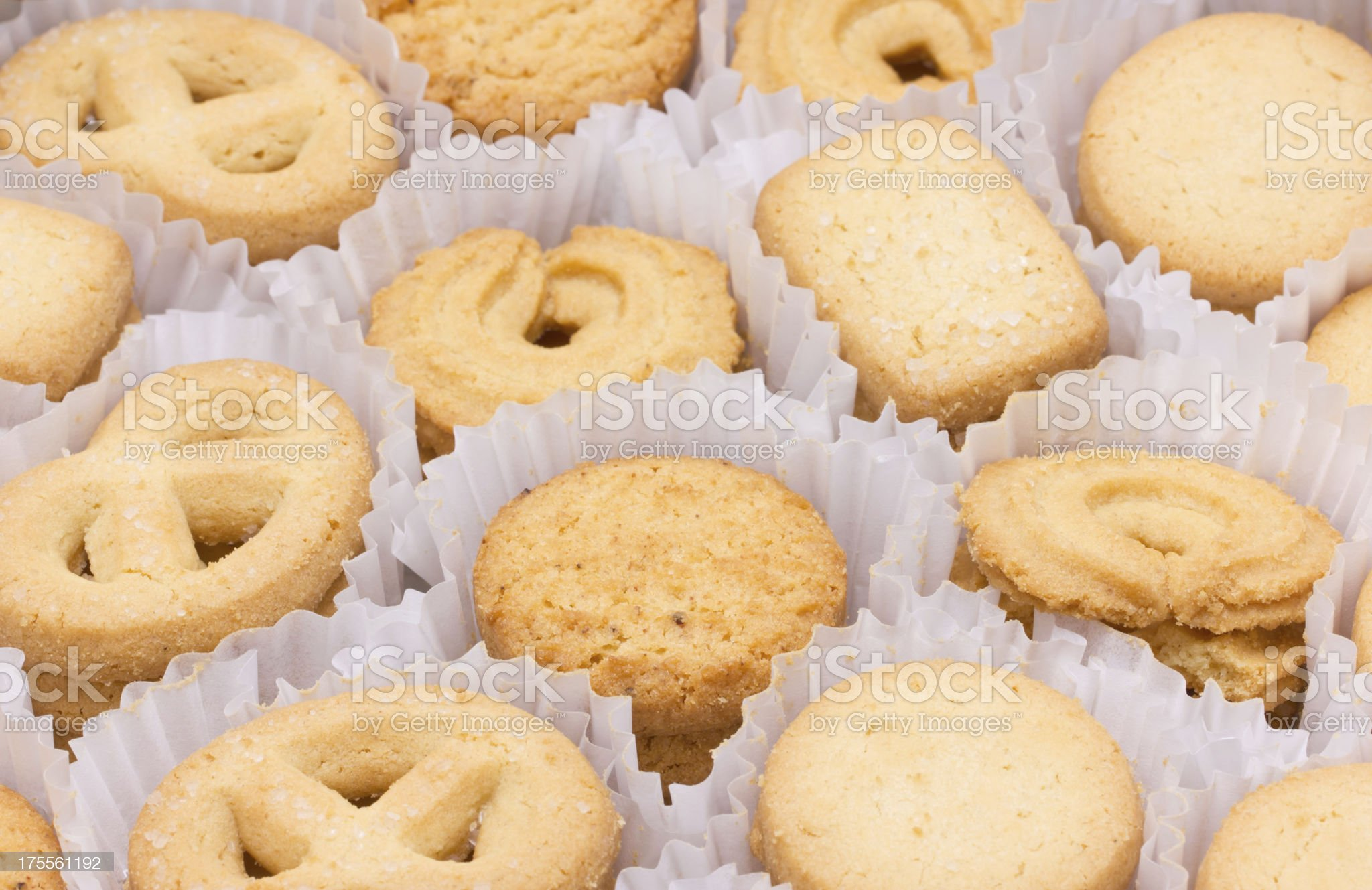 Butter cookies in the box. royalty-free stock photo