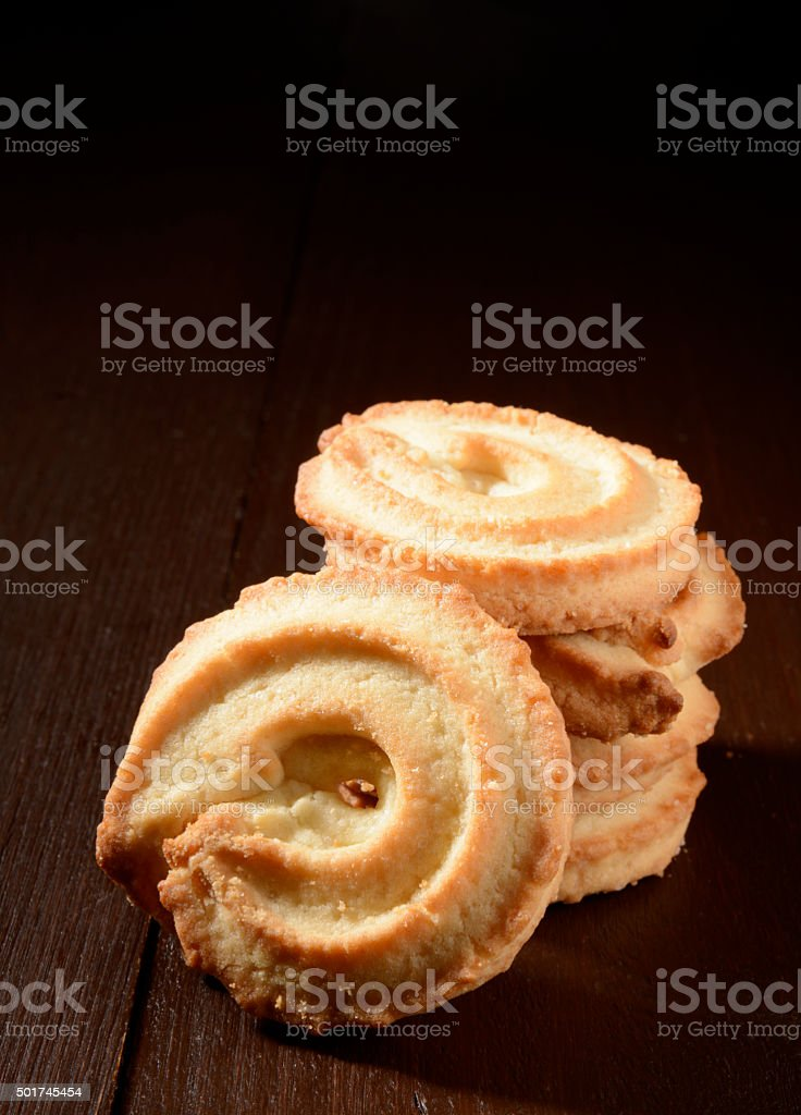 Butter cookies stock photo