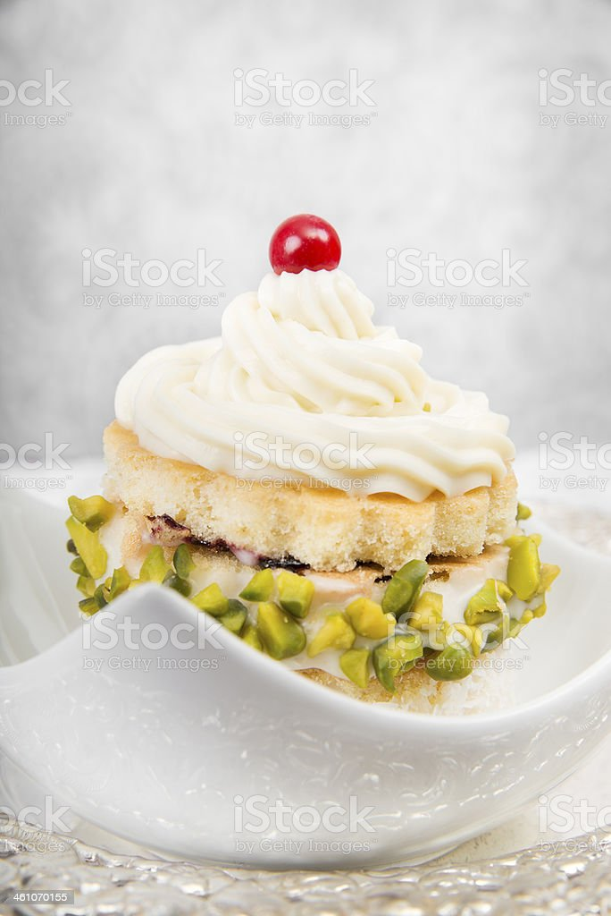 Butter cream cake royalty-free stock photo
