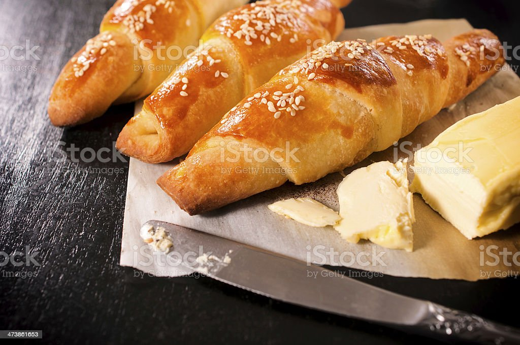 Butter croissants royalty-free stock photo