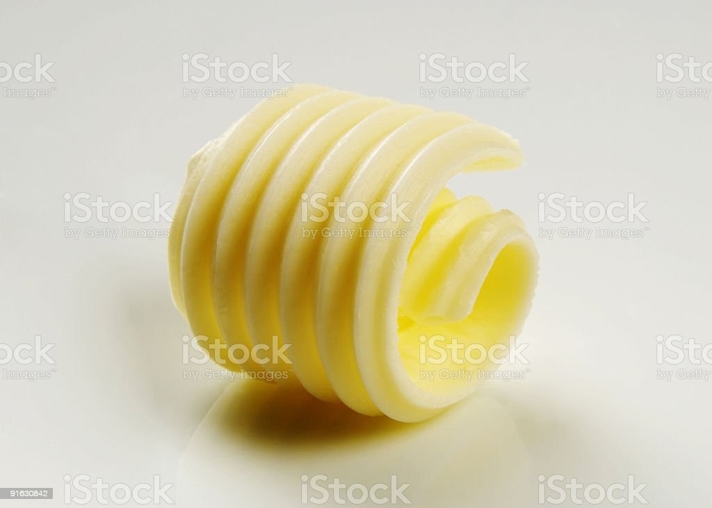 Butter curl royalty-free stock photo