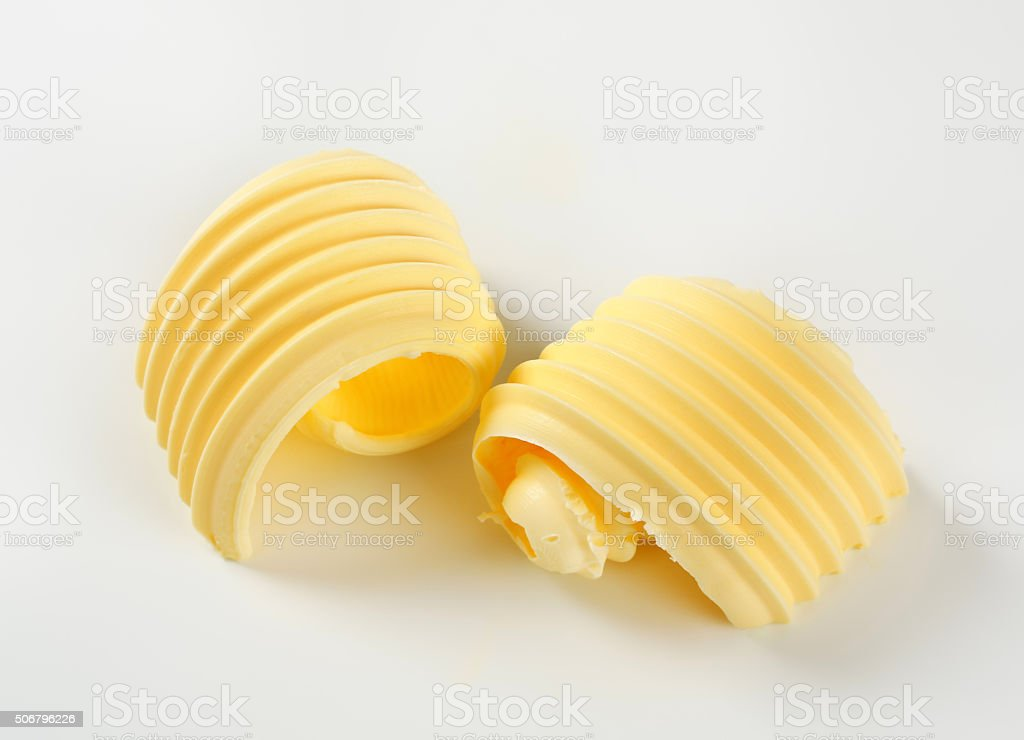 Butter curls stock photo
