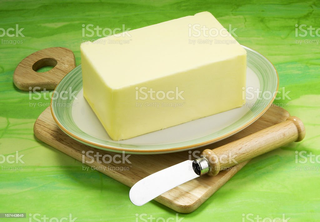 Butter for breakfast royalty-free stock photo