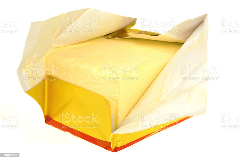 Butter in paper royalty-free stock photo