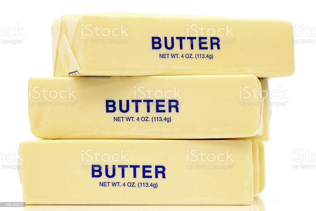 Butter Quarters royalty-free stock photo