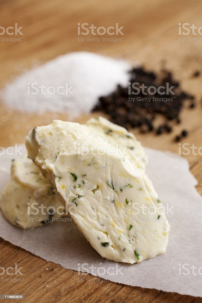 Butter, Salt and Pepper stock photo