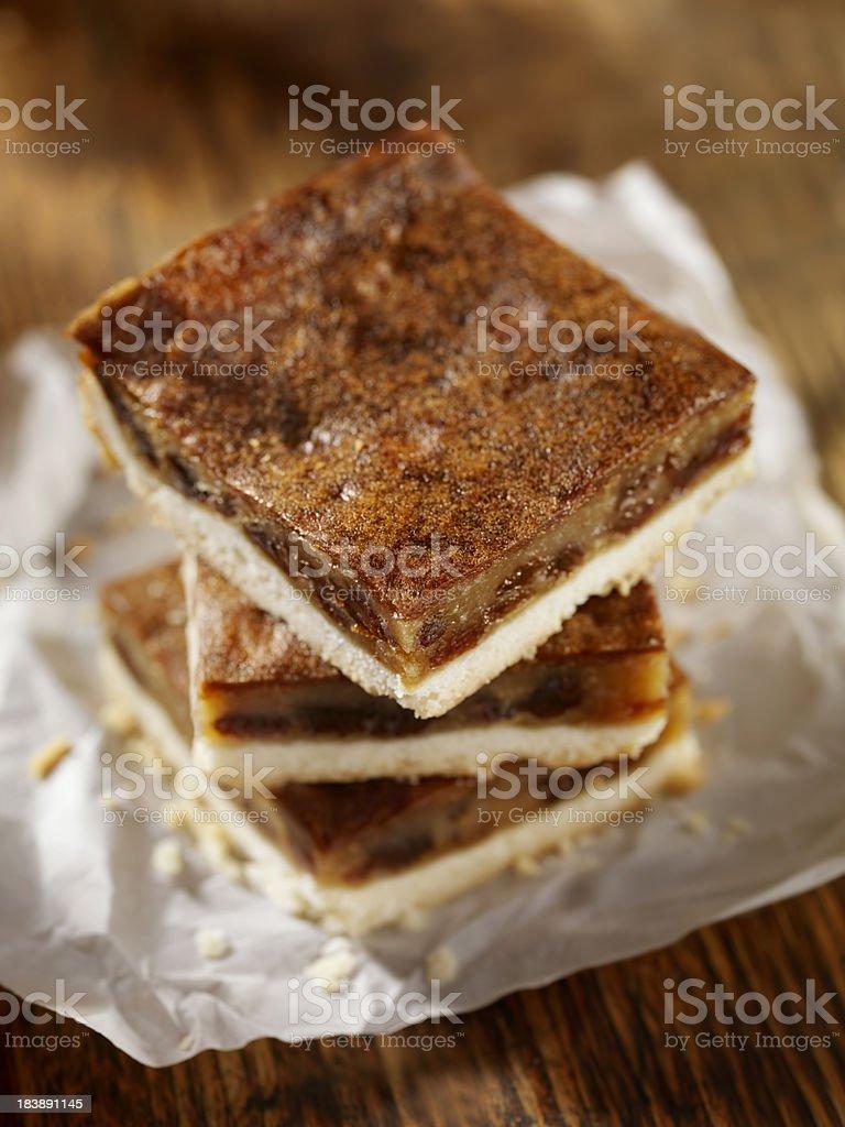 Butter Tart Squares stock photo