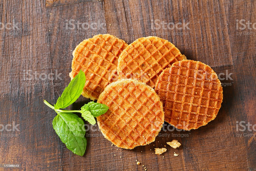 butter waffles royalty-free stock photo
