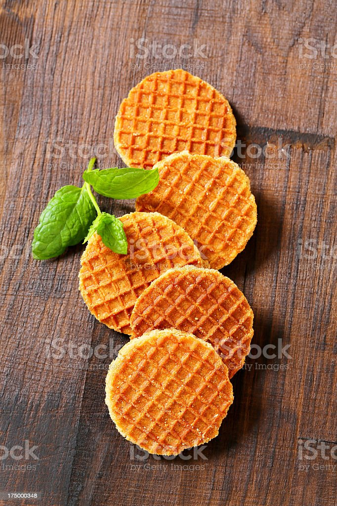 butter waffles stock photo