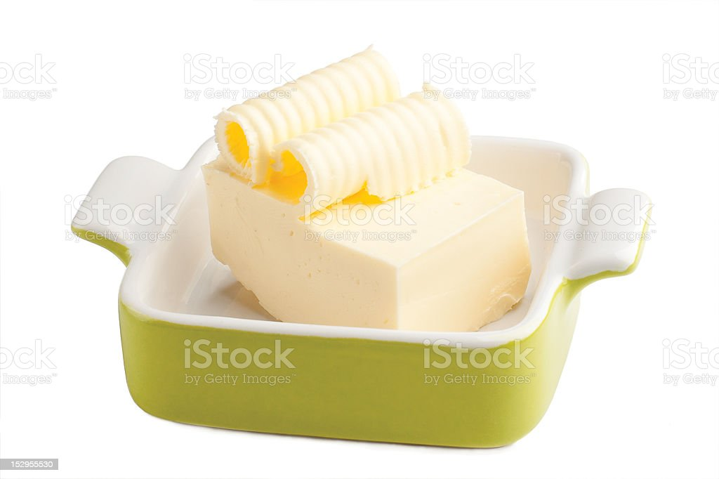 Butter with curls royalty-free stock photo