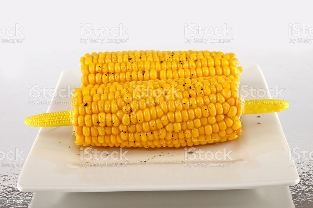Buttered sweetcorn royalty-free stock photo