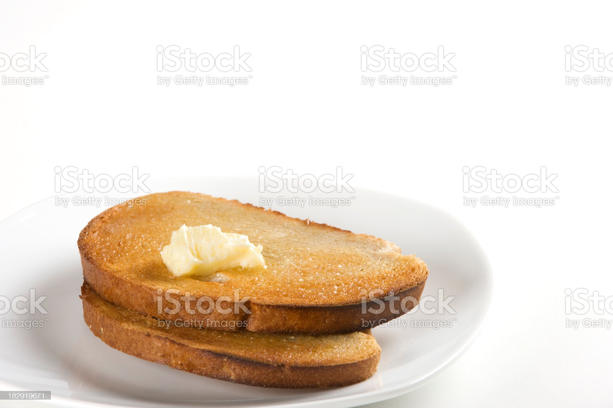 Buttered Toast. royalty-free stock photo
