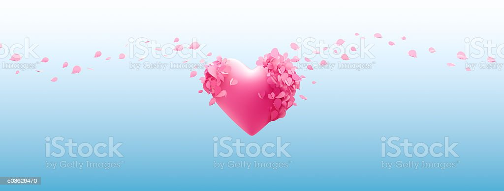 Butterflies Forming a Love stock photo