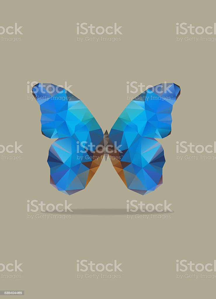 Butterfly abstract illustration stock photo