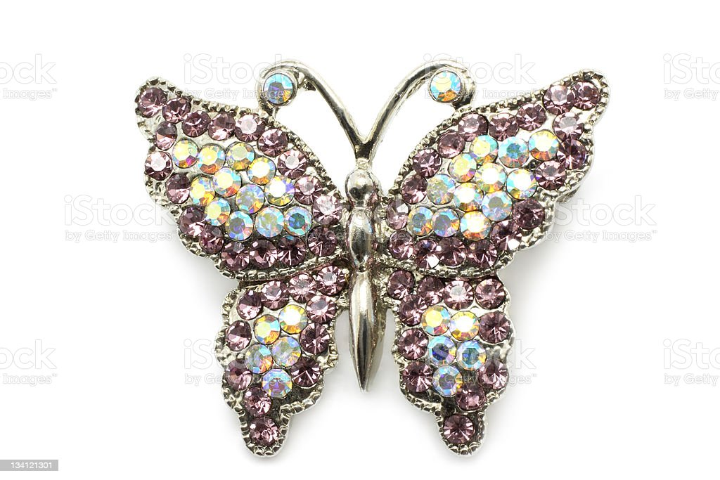 Butterfly brooch stock photo