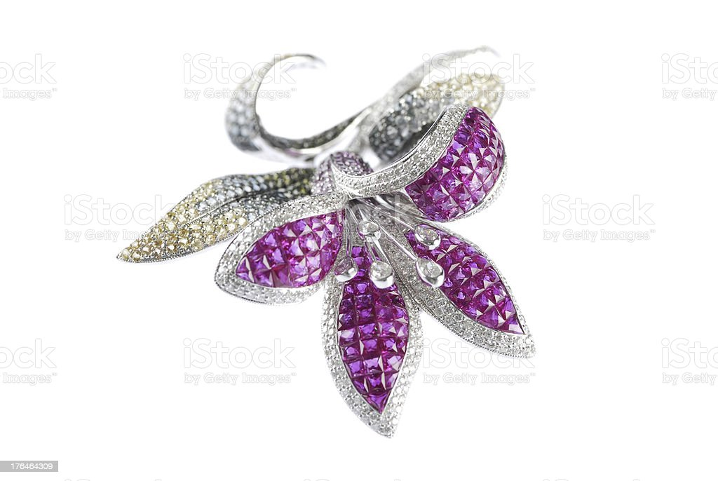 Butterfly brooch royalty-free stock photo