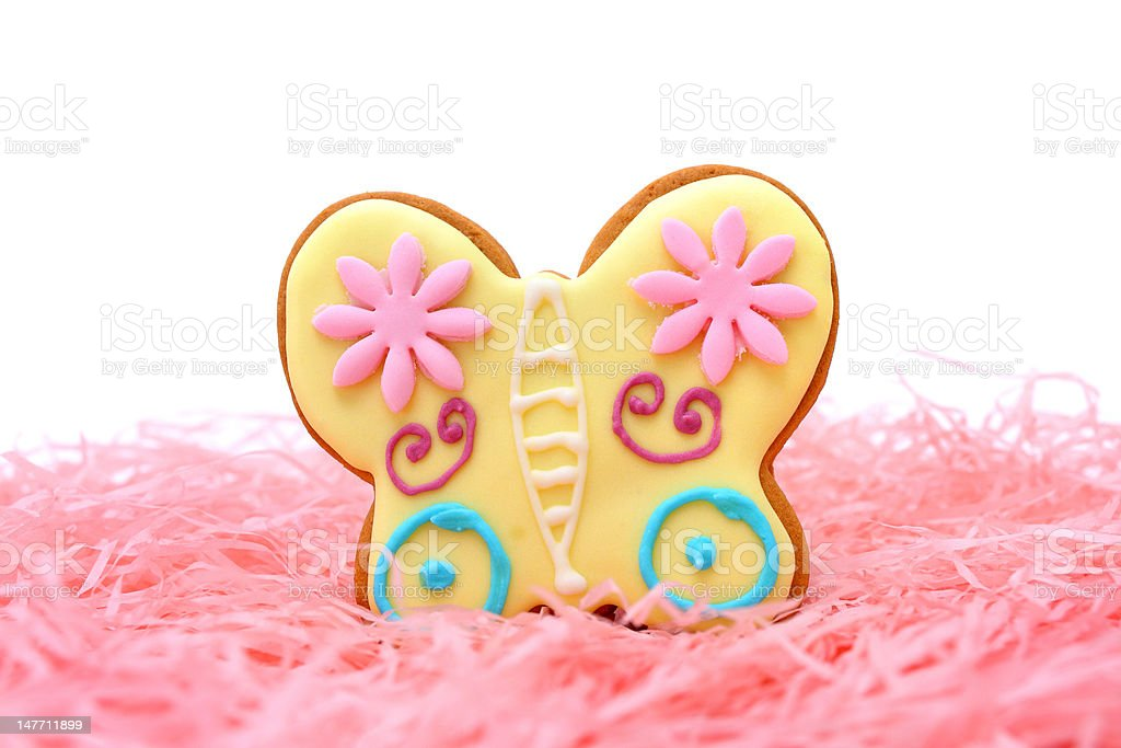 Butterfly Cookie royalty-free stock photo
