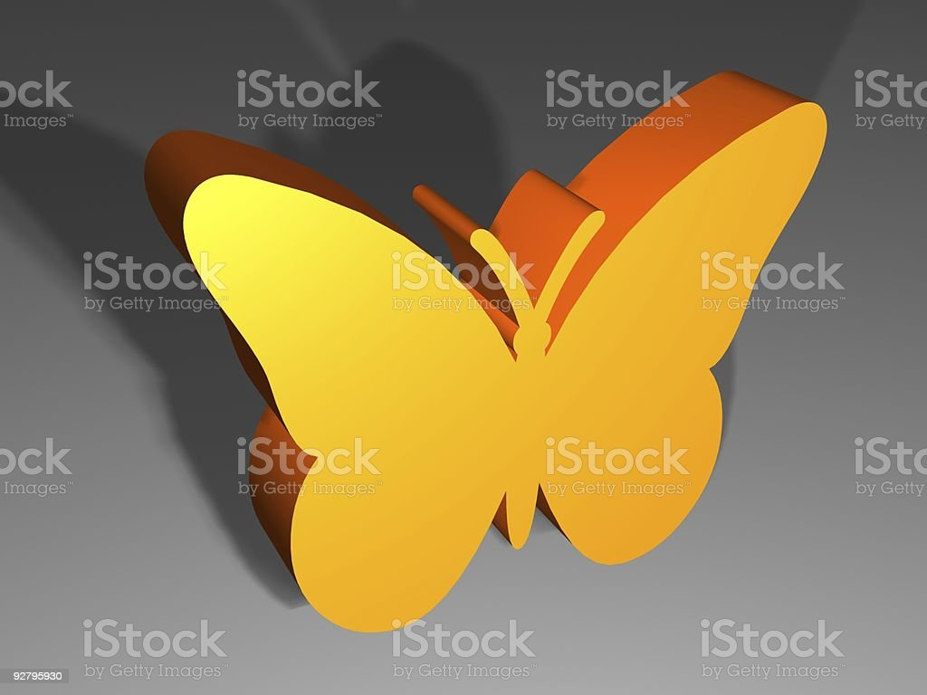 Butterfly  design 3d royalty-free stock photo