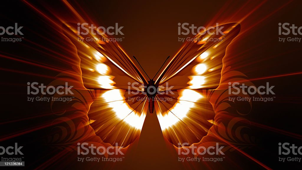 Butterfly Effect. Horizontal royalty-free stock photo