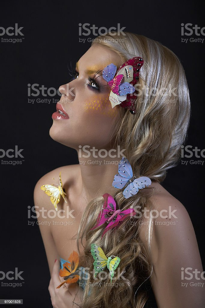 Butterfly Fairy royalty-free stock photo