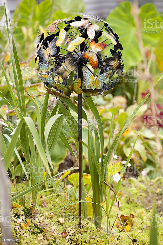 Butterfly garden ornament stock photo