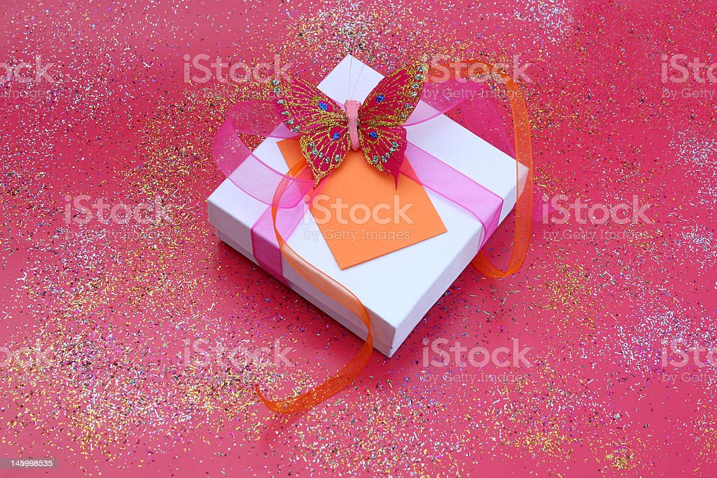 Butterfly Gift royalty-free stock photo