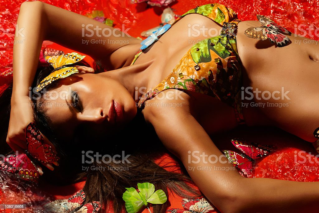 Butterfly Girl royalty-free stock photo