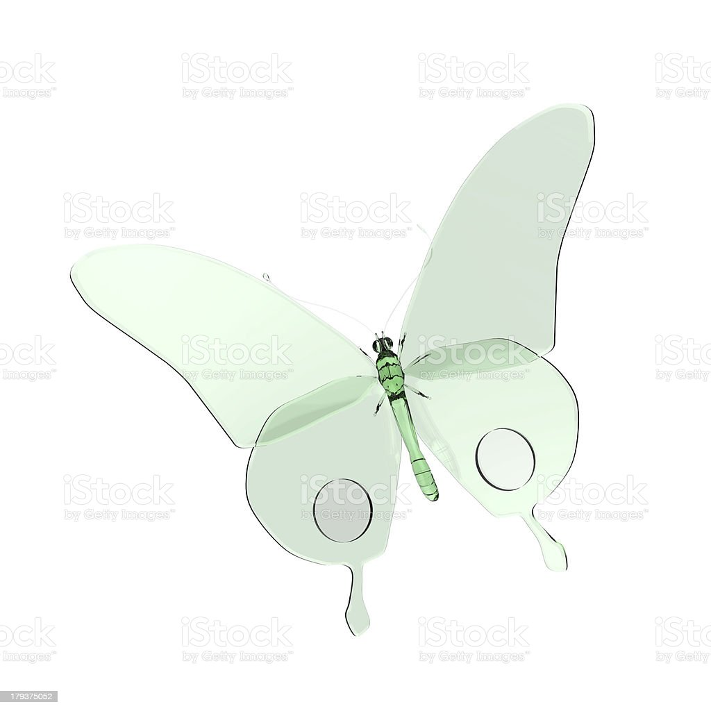 Butterfly glass illustration royalty-free stock photo