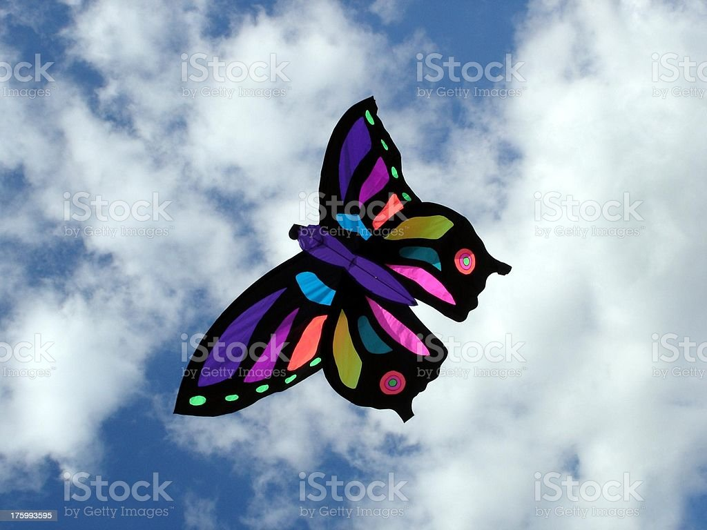 Butterfly Kite royalty-free stock photo