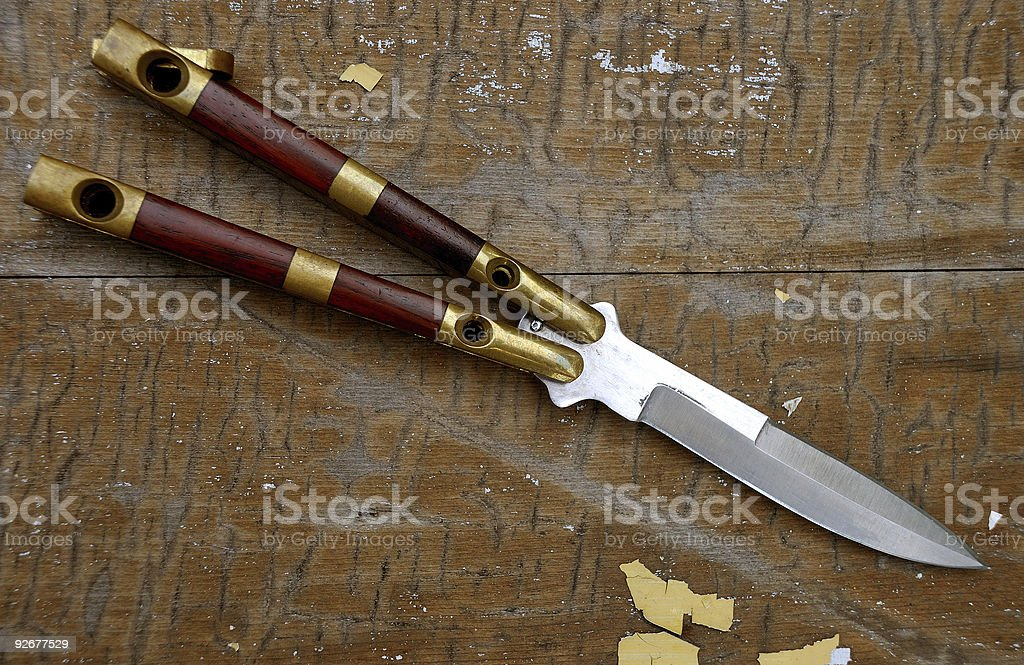 Butterfly Knife royalty-free stock photo