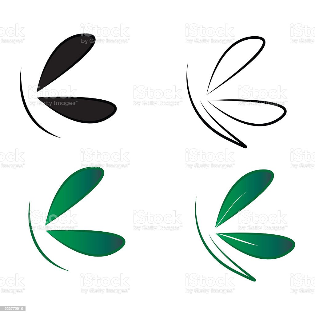 butterfly leaf spa health care ologo stock photo