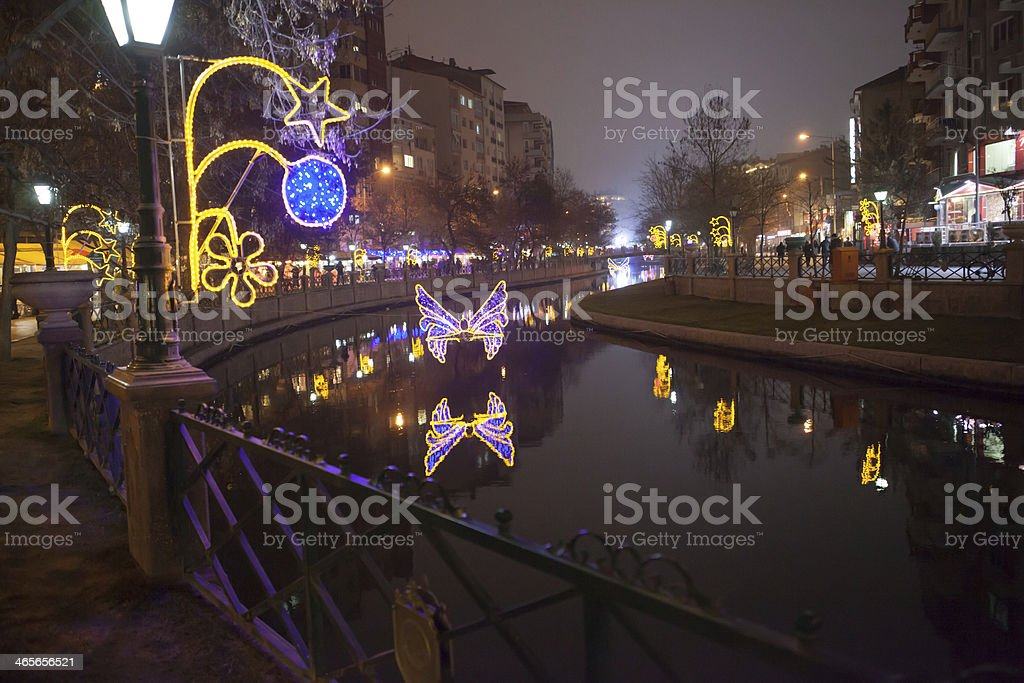 Butterfly lights on the river royalty-free stock photo
