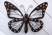 Butterfly made of metal