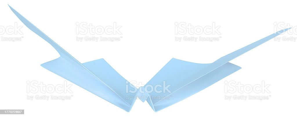 Butterfly made of paper royalty-free stock photo