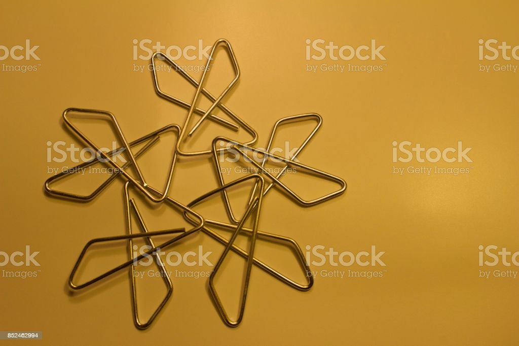 Butterfly Paper Clips Abstract Design stock photo