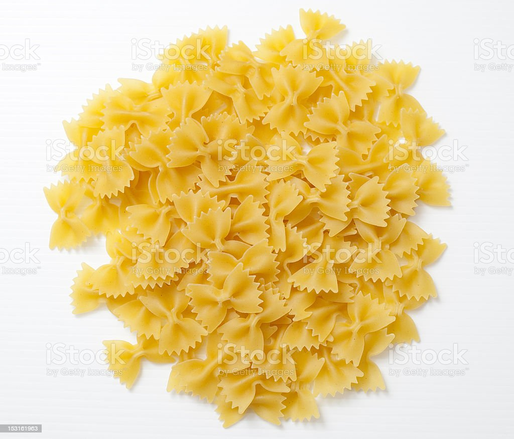 Butterfly pasta. royalty-free stock photo